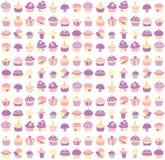 De achtergrond van Cupcake stock illustratie
