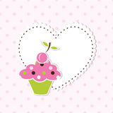 De achtergrond van Cupcake Royalty-vrije Stock Afbeeldingen