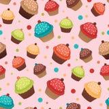 De achtergrond van Cupcakes Stock Foto's