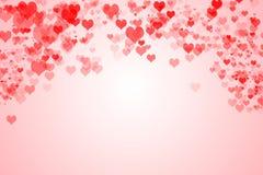 De achtergrond van de Dagharten van Valentine ` s Stock Afbeeldingen