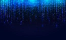 De achtergrond van dalend lichtgevend deeltje Blauwe achtergrond met een het fonkelen blauwe puntensamenstelling EPS10 vectorillu vector illustratie
