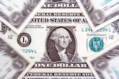 De achtergrond van de één dollarrekening Stock Fotografie