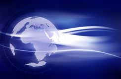 De Achtergrond van de aarde Stock Foto