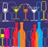 De achtergrond van de alcohol Stock Foto