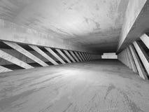 De achtergrond van de architectuur Donkere lege concrete abstracte ruimte Royalty-vrije Stock Foto's