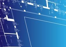 De achtergrond van de architectuur voor uw bevordering Stock Foto