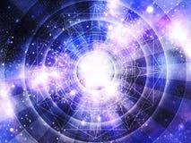De achtergrond van de astrologiehoroscoop stock foto's