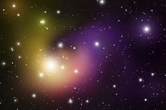 De Achtergrond van de astrologiemysticus Kosmische ruimte Vector Digitale Illustratie van Heelal Vectormelkwegachtergrond Stock Afbeelding