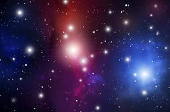 De Achtergrond van de astrologiemysticus Kosmische ruimte Vector Digitale Illustratie van Heelal Vectormelkwegachtergrond Stock Afbeeldingen