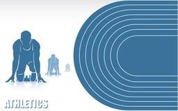 De achtergrond van de atletiek vector illustratie
