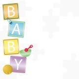 De achtergrond van de baby Stock Fotografie