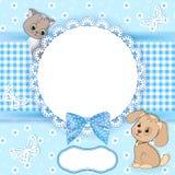 De achtergrond van de baby met frame Stock Afbeeldingen