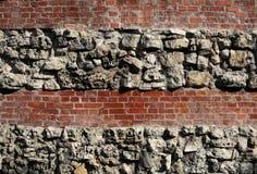 De achtergrond van de baksteen en van de steen Royalty-vrije Stock Foto