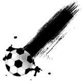 De achtergrond van de Bal van het Voetbal van Grunge Royalty-vrije Stock Afbeeldingen