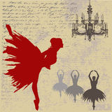 De Achtergrond van de ballerina Royalty-vrije Stock Fotografie