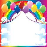 De Achtergrond van de ballon royalty-vrije illustratie