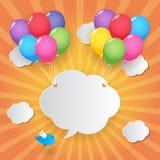 De achtergrond van de ballonhemel Stock Afbeelding