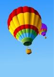 De Achtergrond van de Ballons van de hete Lucht Stock Afbeelding