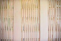 De achtergrond van de bamboemuur Royalty-vrije Stock Foto's