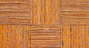 De achtergrond van de bamboeomheining Royalty-vrije Stock Afbeeldingen