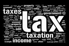 De achtergrond van de belasting Stock Foto's