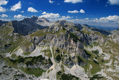 De achtergrond van de berg Stock Foto's