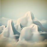 De Achtergrond van de bergketen Royalty-vrije Stock Afbeeldingen