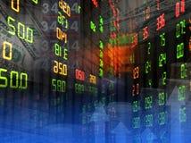 De achtergrond van de beursgrafiek Stock Afbeeldingen