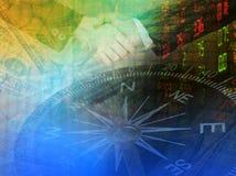 De achtergrond van de beursgrafiek Royalty-vrije Stock Afbeelding