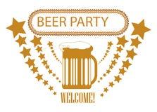 De achtergrond van de bierpartij Stock Afbeelding