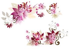 De achtergrond van de bloem Stock Foto's