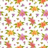 De achtergrond van de bloem, alstroemeria Stock Fotografie