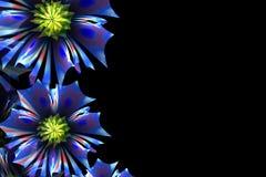 De achtergrond van de bloem Blauw palet Computer geproduceerde grafiek Royalty-vrije Stock Afbeeldingen