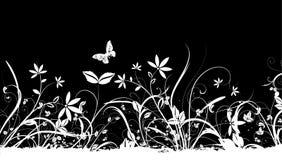 De achtergrond van de bloem en van de vlinder vector illustratie