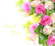 De achtergrond van de bloem met structuur Royalty-vrije Stock Afbeelding