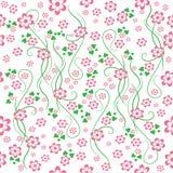 De achtergrond van de bloem. Naadloos. Stock Illustratie