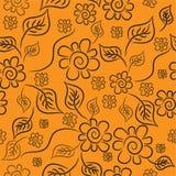 De achtergrond van de bloem. Naadloos. Royalty-vrije Stock Afbeeldingen
