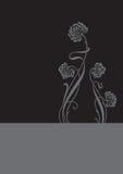 De achtergrond van de bloem (vector) Royalty-vrije Stock Afbeeldingen