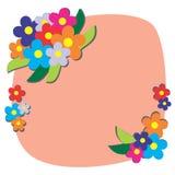 De achtergrond van de bloemgrens stock illustratie