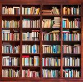 De Achtergrond van de Boeken van de bibliotheek stock foto's