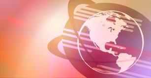 De achtergrond van de Bol van de aarde Stock Foto