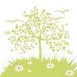 De achtergrond van de boom Stock Afbeeldingen