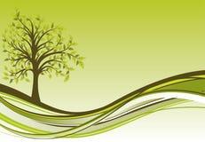 De achtergrond van de boom, vector Stock Foto