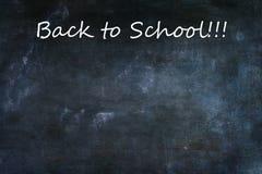 De Achtergrond van de bordtextuur met terug naar Schooltekst Royalty-vrije Stock Foto