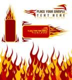 De achtergrond van de brand Stock Foto