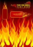 De achtergrond van de brand royalty-vrije illustratie
