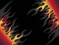 De achtergrond van de brand Stock Afbeelding