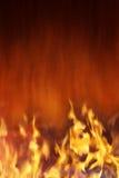 De Achtergrond van de brand en van de Hitte Stock Foto's