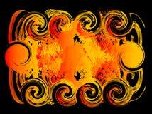 De achtergrond van de brand voor tekst Royalty-vrije Stock Foto's