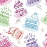 De achtergrond van de cake Stock Foto